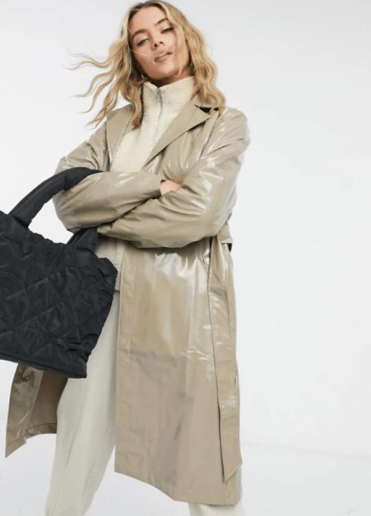 rains holographic waterproof coat