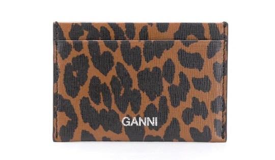 Leopard print cardholder by Ganni