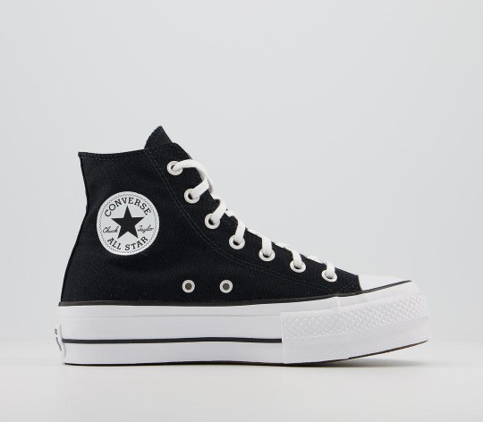 Converse platform high top trainers