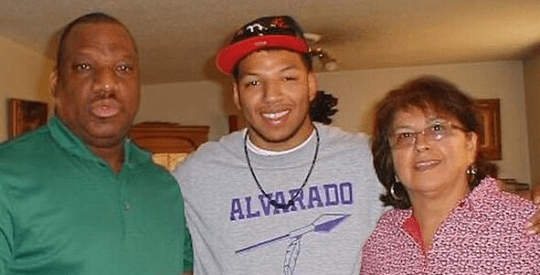 Paul and Rosemary Blackwell with son Brandon