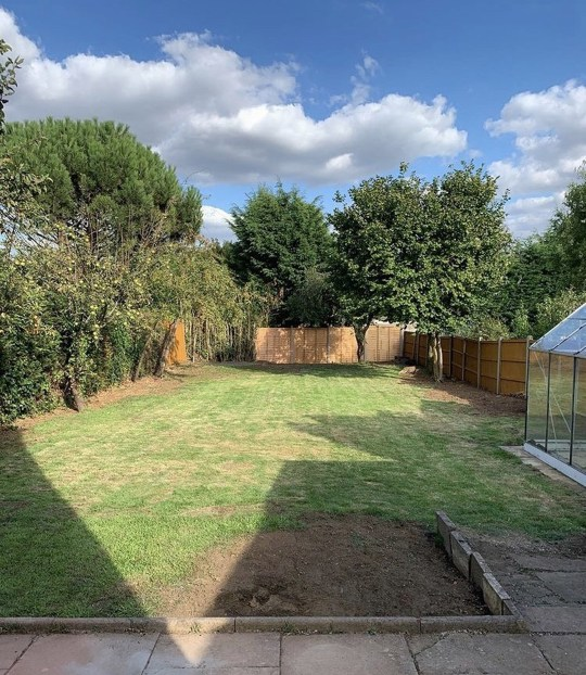 transformed garden after renovation