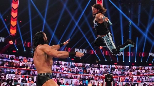 WWE superstars Drew McIntyre and AJ Styles clash on Raw