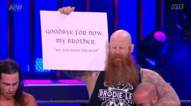 Former WWE superstar Erick Rowan (AKA Erick RedBeard) made his AEW Dynamite debut to honour Brodie Lee