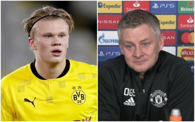 Erling Haaland is closing in on Ole Gunnar Solskjaer's Champions League goal record