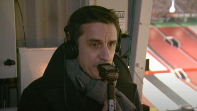 Gary Neville criticised Manchester United defender Aaron Wan-Bissaka