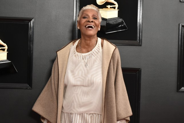 Dionne Warwick on the red carpet