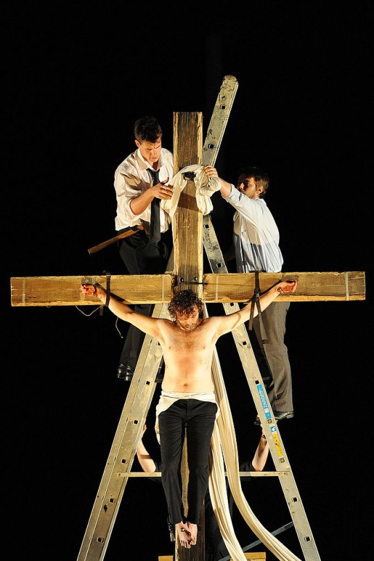 Michael Sheen on the cross