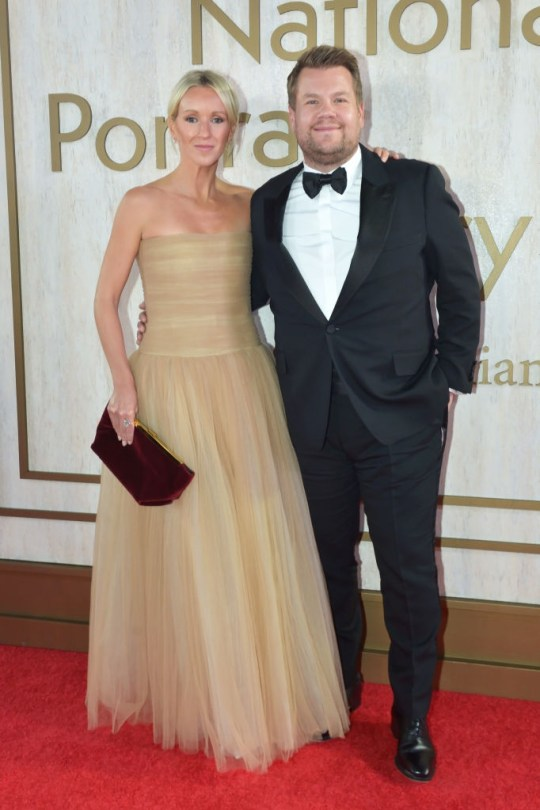 James Corden and his wife Julia