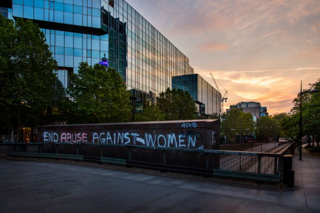 Graffitti Protesting Against The Increased Domestic Violence During The Coronavirus Pandemic