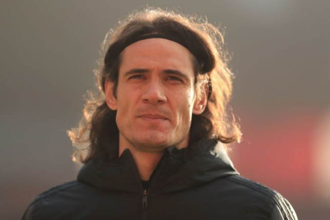 Cavani has started just once for United