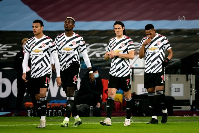Edinson Cavani was subbed off during Manchester United's victory over West Ham