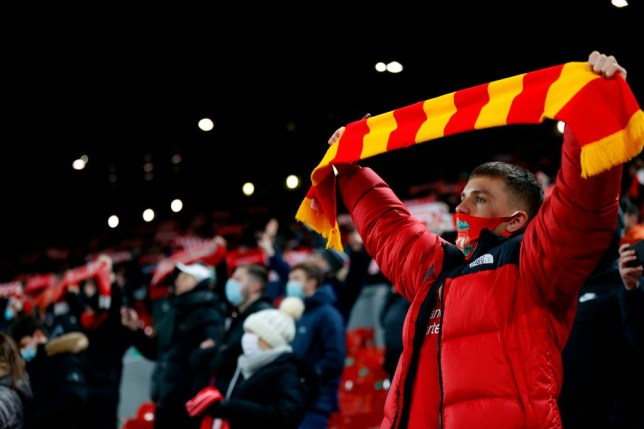 Fans had been permitted to attend matches at Anfield and Goodison Park while Merseyside was in tier 2