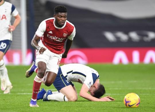 Thomas Party didorong keluar dari kekalahan Arsenal dari Tottenham awal bulan ini