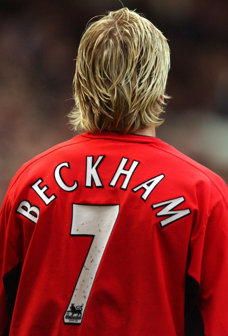 David Beckham's England uniform