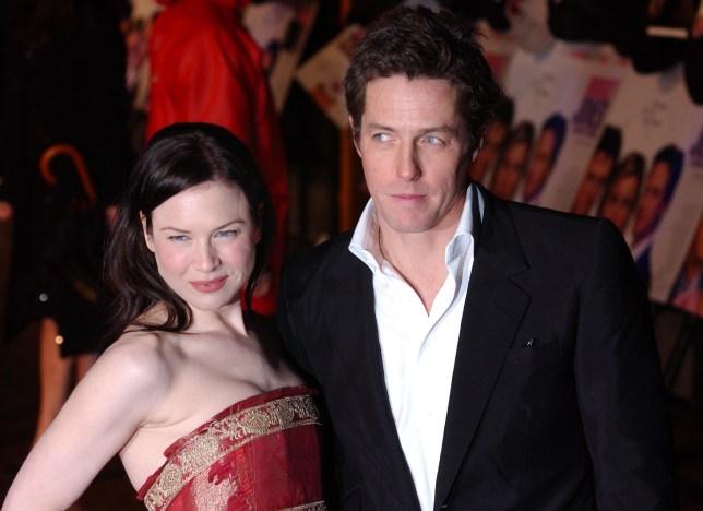Renee Zellweger and Hugh Grant at the Bridget Jones: The Edge of Reason premiere