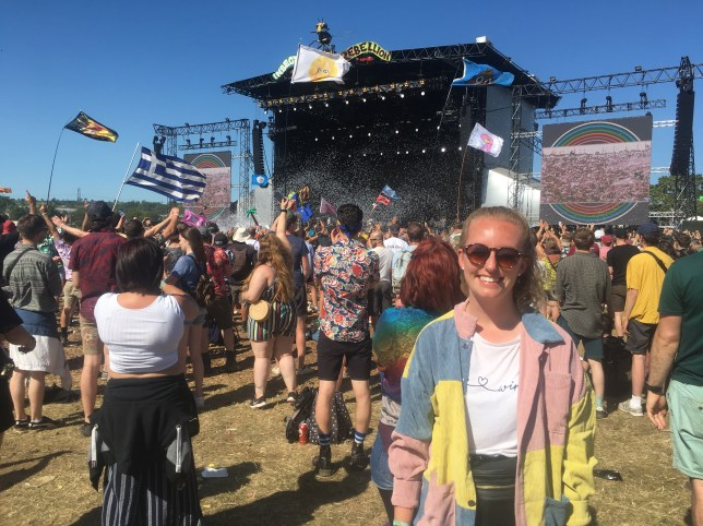 Georgia Arundell at Glastonbury 2019