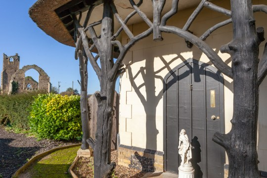 entrance to former lodge house up for sale in norwich