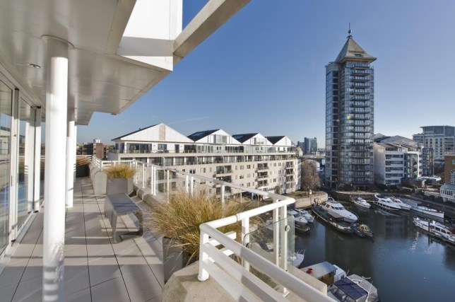 view from the balcony of the £3.5million penthouse