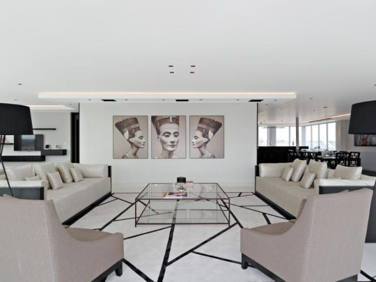 living space in chelsea penthouse