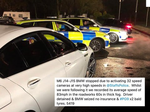 BMW Driver gets 100 penalty points after setting off 32 speed cameras in one trip
