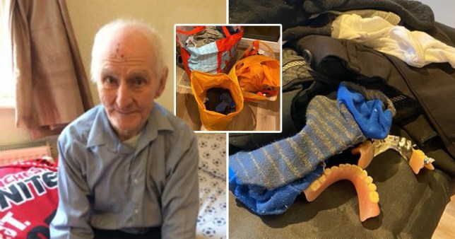 The family of a 90-year-old man say they found someone else's clothes mixed up in his belongings after they returned following his death