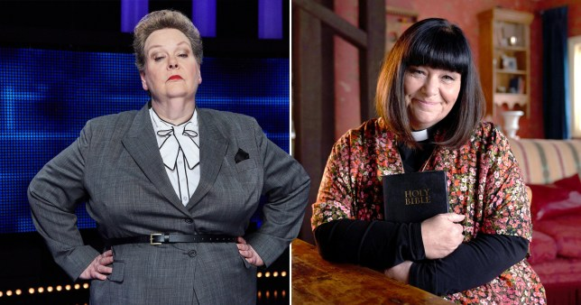 Anne Hegerty, and Dawn French in The Vicar of Dibley