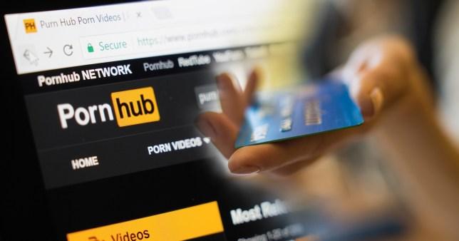 Capture d'écran du site Web de Pornhub
