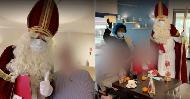 Le père Noël donne des soins à domicile au coronavirus belge