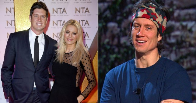 Vernon Kay and Tess Daly, Vernon on I'm A Celebrity