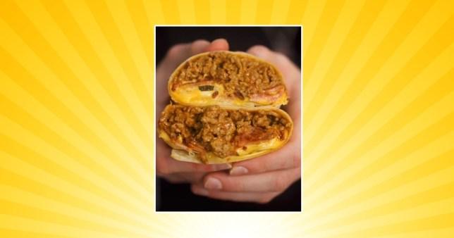 Cheese burger burrito