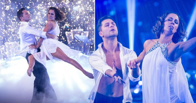 Caroline Flack and Pasha Kovalev on Strictly Come Dancing