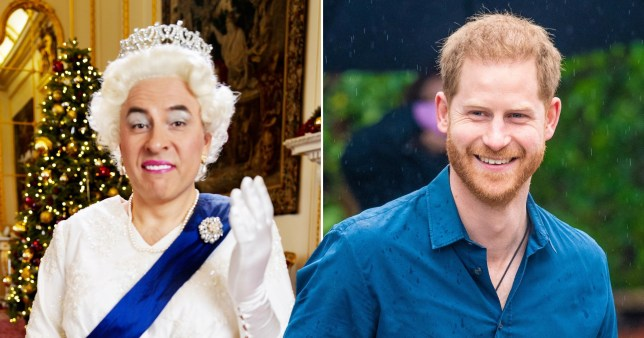 David Walliams as the Queen and Prince Harry