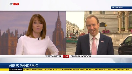 Matt Hancock on Sky News interviewed by Kay Burley 09/09/2020