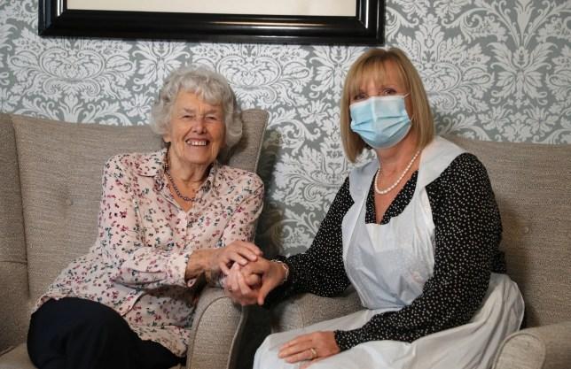 Care home resident Doreen alongside her daughter