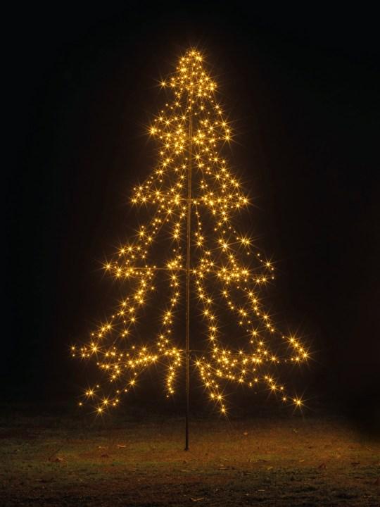 Indoor Outdoor black light up tree