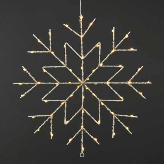 LED snowflake silhouette