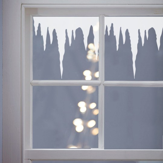 Winter icicles vinyl window stickers by Nutmeg Wall Stickers