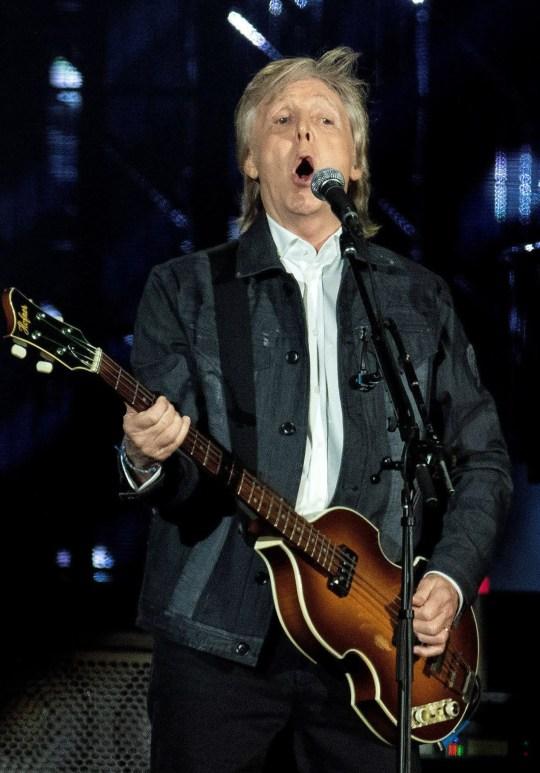 Sir Paul McCartney performing