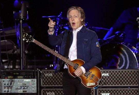 Sir Paul McCartney in concert