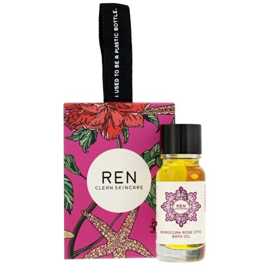 REN's Clean Skincare Moroccan Rose Otto Bath Oil Stocking Filler