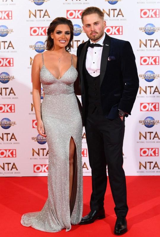 Megan Barton Hanson and Charlie Brake attend 25th National Television Awards