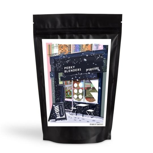 Perky Blenders Christmas coffee