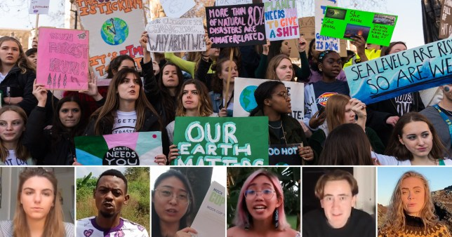 Young environmentalists demand want people who damage the climate to be criminalised - EMBARGO MIDDAY