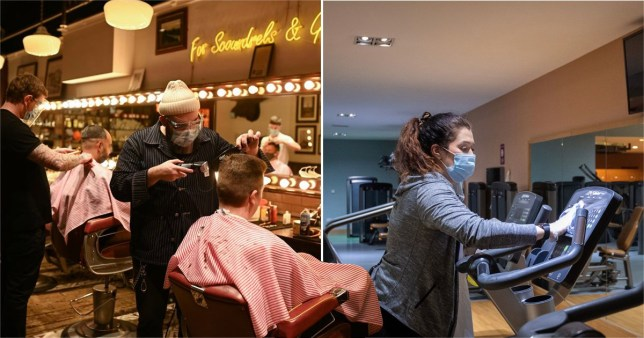 Gyms and hairdressers can reopen from today