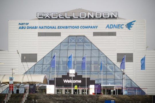 LONDON, ENGLAND - DECEMBER 02: A general view of the ExCel London conference and exhibition centre, which has previously been used as an NHS Nightingale Hospital, on December 02, 2020 in London, England. The Nightingale field hospitals were built in the spring to accommodate a wave of Covid-19 patients, although were scarcely used for that purpose. Recently, NHS England Chief Executive Simon Stevens floated the idea that they could be used in the coming vaccination campaign. (Photo by Leon Neal/Getty Images)