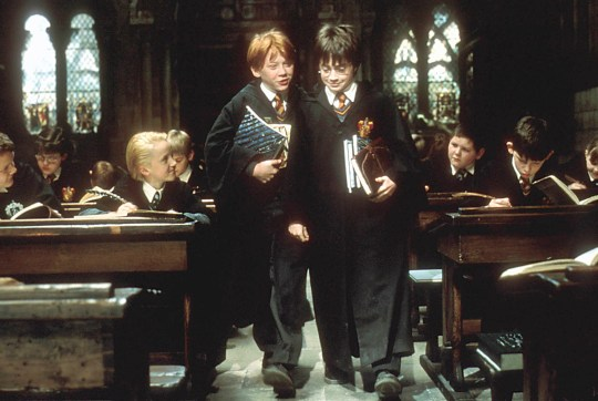 Ron Weasley and Harry Potter in Harry Potter and the Philosopher's Stone