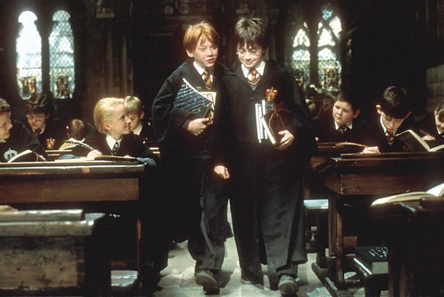 Harry Potter And The Philosopher's Stone (Left-Right) Rupert Grint and Daniel Radcliffe ?? Warner Brothers International Television