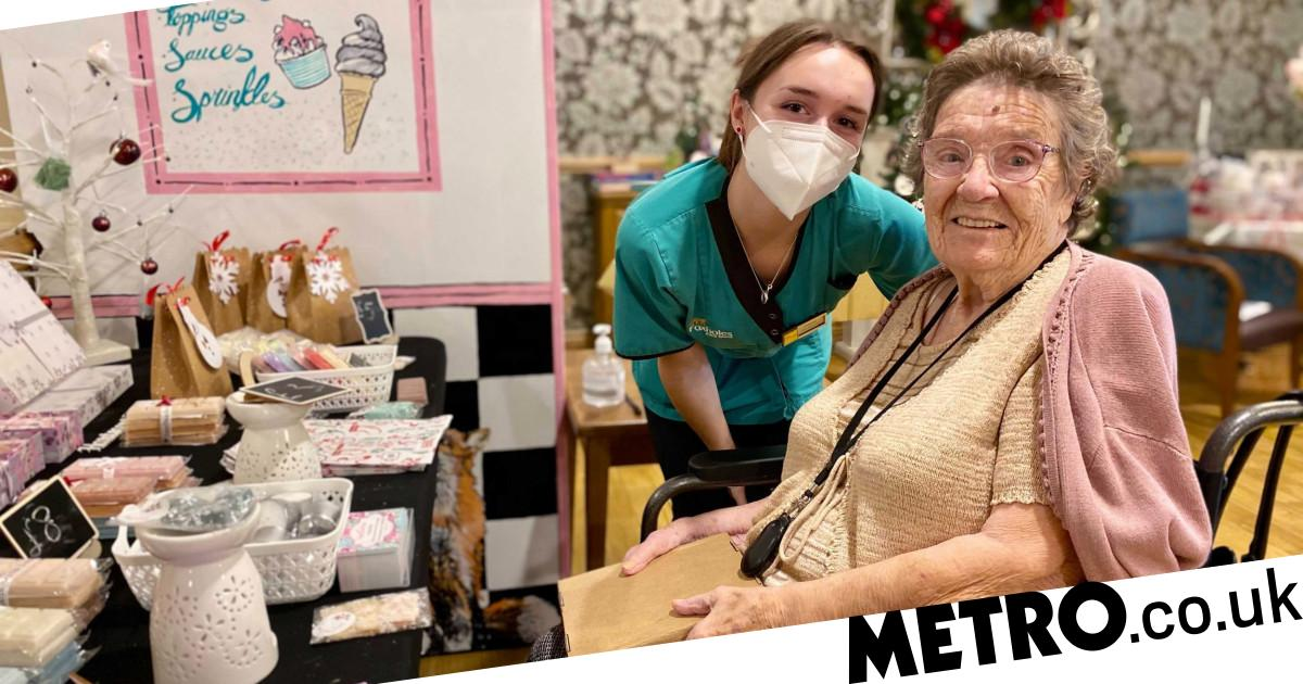 Care home brings Christmas market indoors so residents don't miss out this year - metro