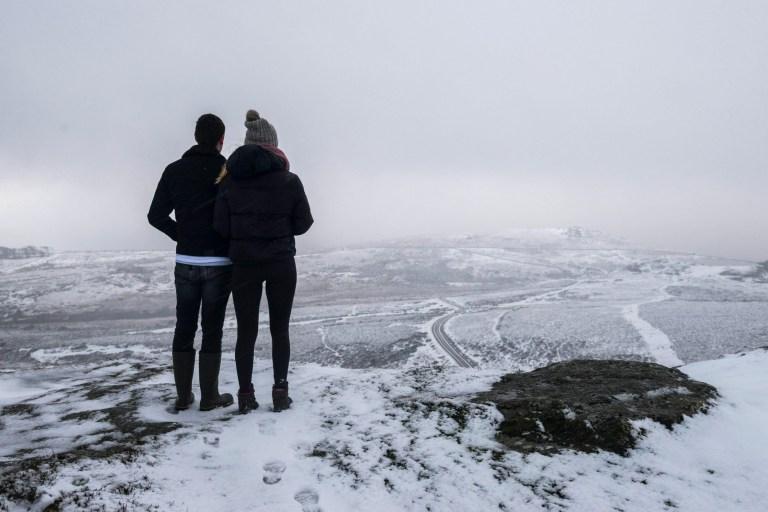 Dartmoor, Devon, covered in snow