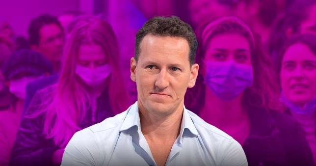 Strictly Come Dancing pro Brendan Cole and people wearing face masks amid coronavirus